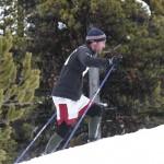 AC-skier hill climb